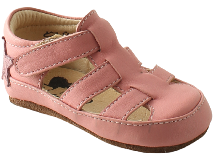 Rap BABY First Shoes Sandals Velcro (Dusty Pink)